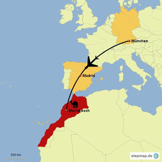 marrakesch karte StepMap   München Marrakesch   Landkarte für Welt