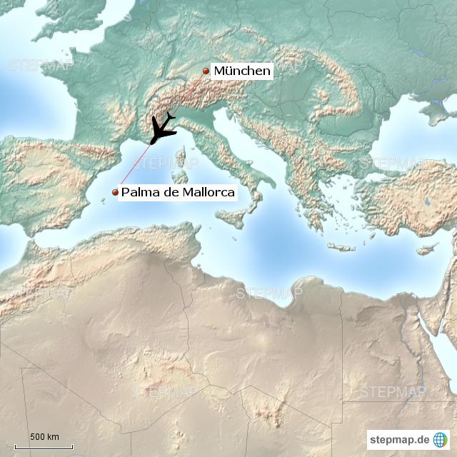 Stepmap München Nach Mallorca Landkarte Für Deutschland