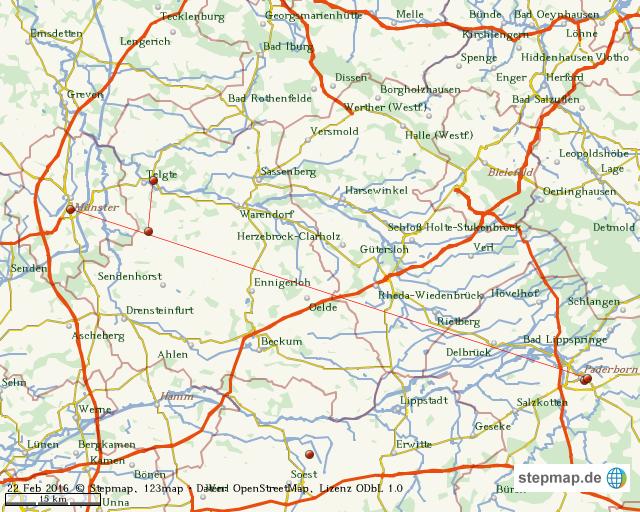 Karte Paderborn.Stepmap Münster Paderborn Landkarte Für Welt