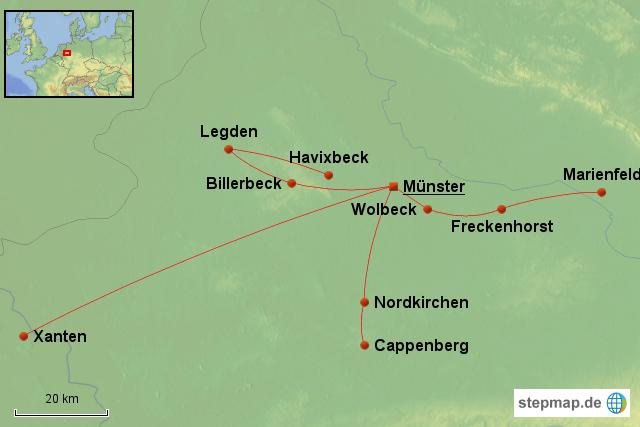 Karte Münsterland.Stepmap Münsterland Landkarte Für Deutschland