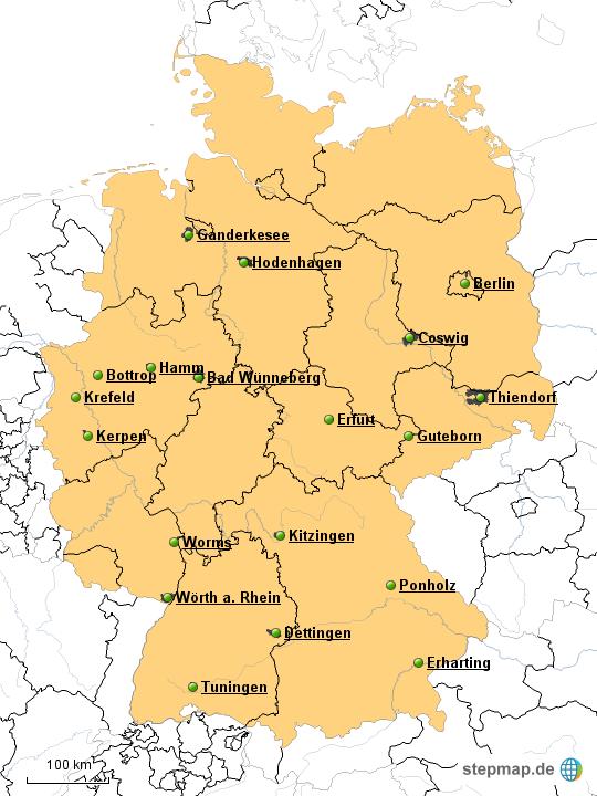 netto deutschland karte StepMap   NETTO Markendiscount Niederlassungen   Landkarte für