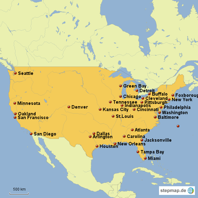 Nfl Landkarte