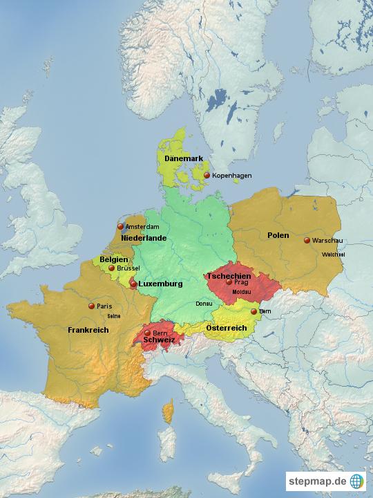 die nachbarländer von deutschland
