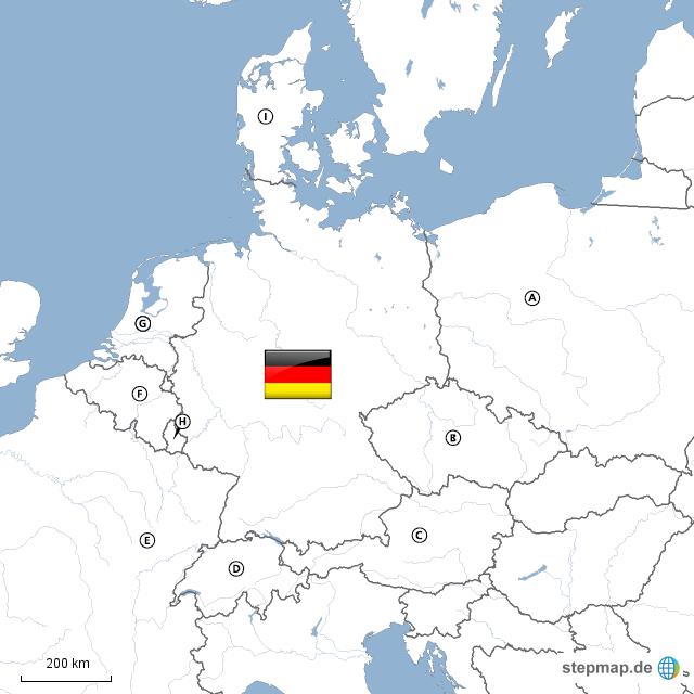 nachbarl nder deutschlands von puraido landkarte f r. Black Bedroom Furniture Sets. Home Design Ideas