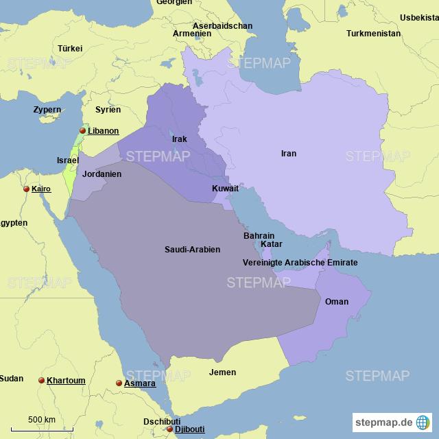 Karte Naher Osten Israel.Stepmap Naher Osten