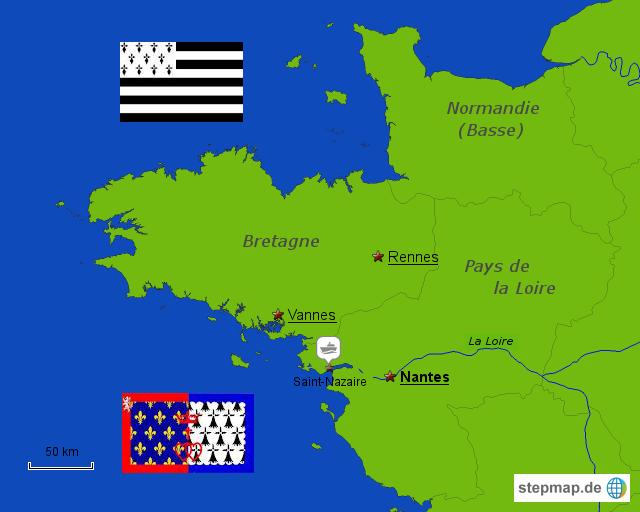 Nantes Karte.Stepmap Nantes 1 Landkarte Für Frankreich