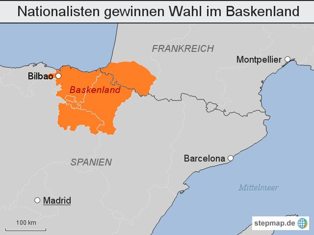 baskenland karte StepMap   Nationalisten gewinnen Wahl im Baskenland   Landkarte