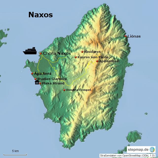 Stepmap Naxos 2015 Landkarte Fur Griechenland
