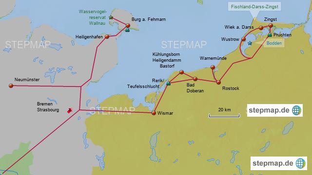 Fischland Darß Zingst Karte.Stepmap Neumünster Fischland Darss Zingst Landkarte Für Deutschland
