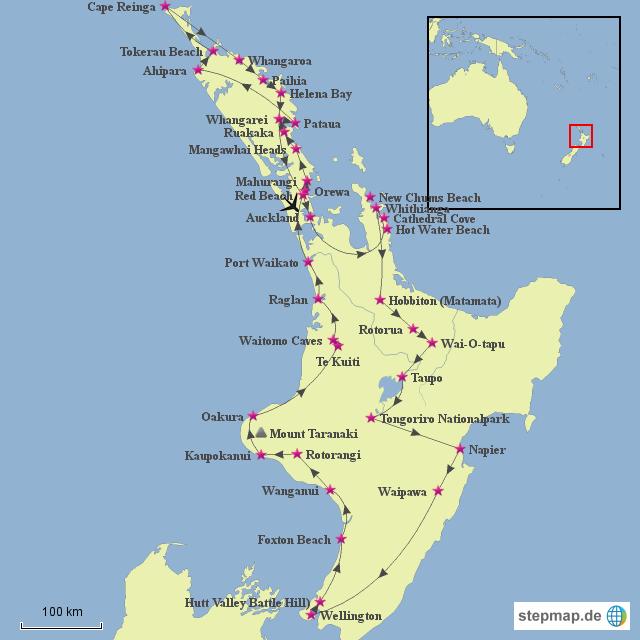 Neuseeland Nordinsel Karte.Stepmap Neuseeland Nordinsel Landkarte Für Neuseeland
