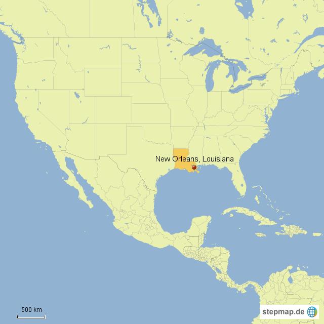new orleans karte StepMap   New Orleans   Landkarte für Nordamerika