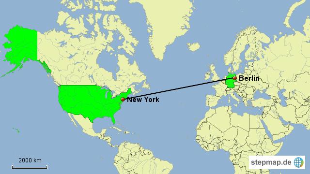 Stepmap New York Berlin Landkarte Für Welt