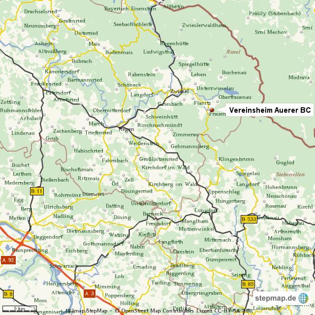 karte niederbayern StepMap   Niederbayern   Landkarte für Welt karte niederbayern