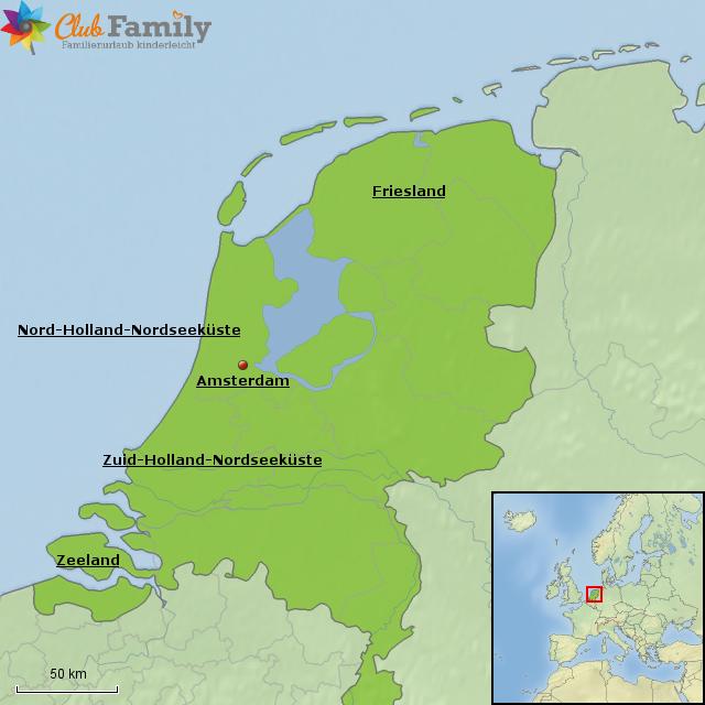 Karte Nordseeküste Holland.Stepmap Niederlande übersicht Landkarte Für Niederlande