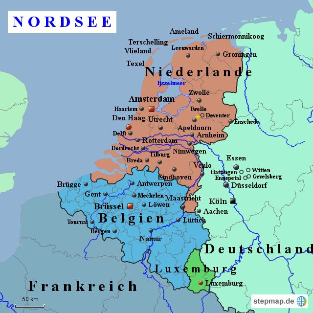 stepmap niederlande und belgien landkarte f r europa. Black Bedroom Furniture Sets. Home Design Ideas