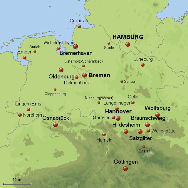 karte hamburg bremen StepMap   Niedersachsen/Hamburg/Bremen   Landkarte für Deutschland
