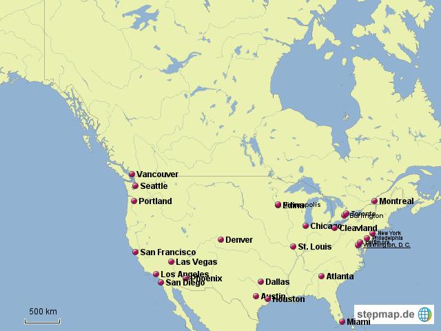 nord amerika st dte klimawandel von ssm86 landkarte f r nordamerika. Black Bedroom Furniture Sets. Home Design Ideas