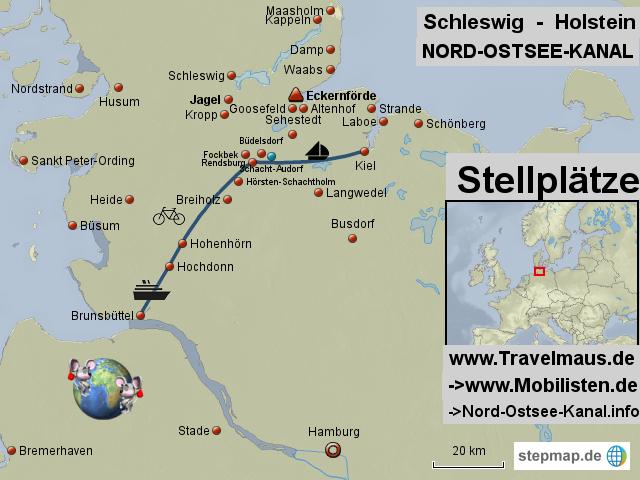 Karte Ostsee Schleswig Holstein.Stepmap Nord Ostsee Kanal Landkarte Für Deutschland