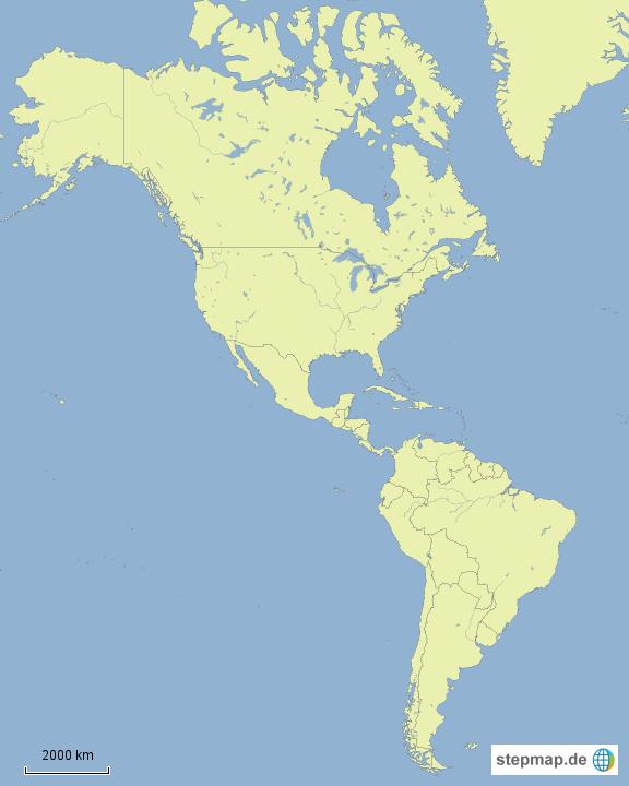 Südamerika Karte Ohne Beschriftung.Stepmap Nord Und Südamerika Landkarte Für Deutschland