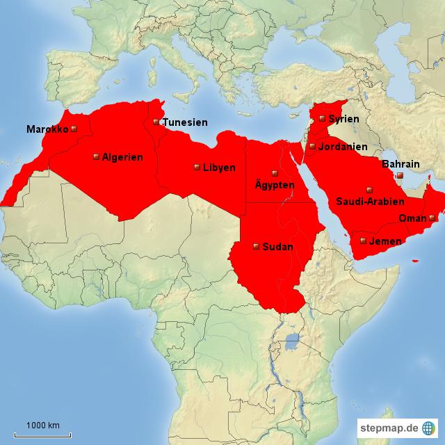 landkarte nordafrika StepMap   Nordafrika   Landkarte für Europa landkarte nordafrika