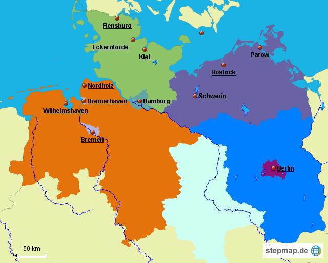 Stepmap Norddeutschland Landkarte Fur Deutschland
