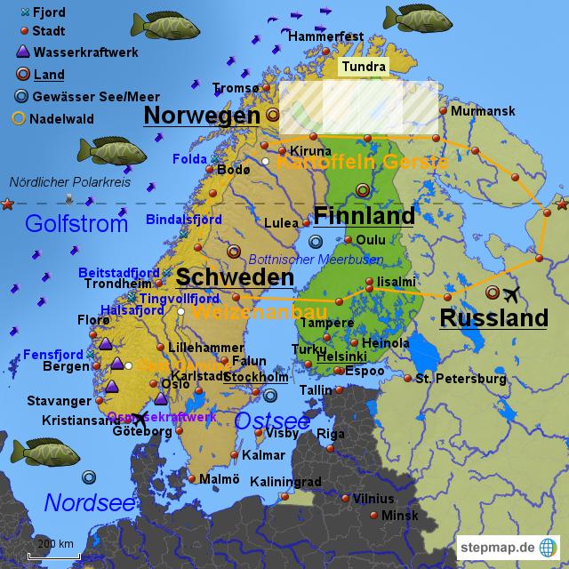 landkarte nordeuropa StepMap   Nordeuropa   Landkarte für Deutschland landkarte nordeuropa