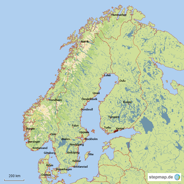 landkarte nordeuropa StepMap   Nordeuropa   Landkarte für Europa landkarte nordeuropa