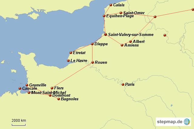 Nordfrankreich Karte.Stepmap Nordfrankreich 2011 Landkarte Für Frankreich