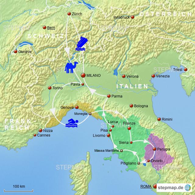 Norditalien Karte.Stepmap Norditalien 2 Landkarte Fur Italien