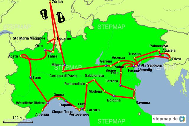 Norditalien Karte.Stepmap Norditalien Urlaub 2017 Landkarte Für Italien