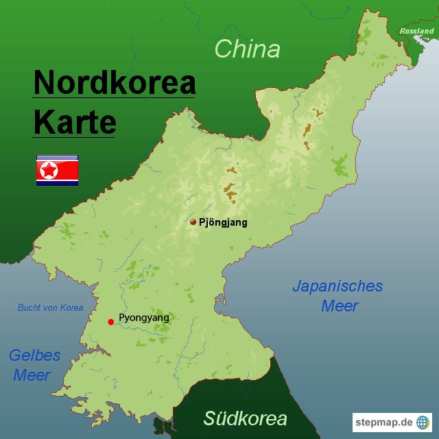 nordkorea landkarte StepMap   Nordkorea Karte   Landkarte für Nordkorea nordkorea landkarte