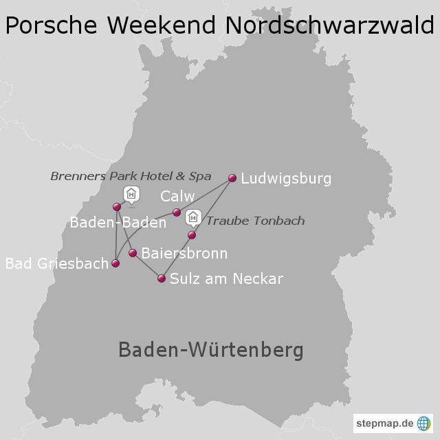 Nordschwarzwald Karte.Stepmap Nordschwarzwald Landkarte Für Deutschland