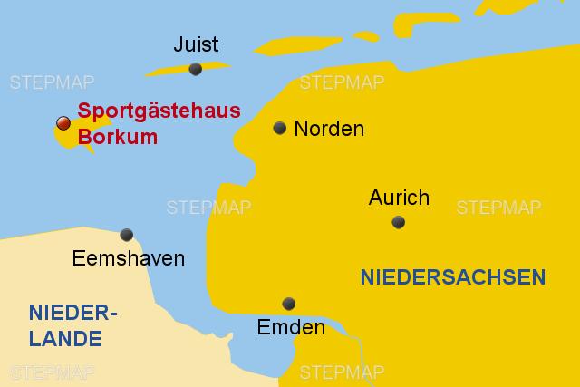 Nordsee Karte Niedersachsen.Stepmap Nordsee Borkum 2018 Format 3 2 Landkarte Fur