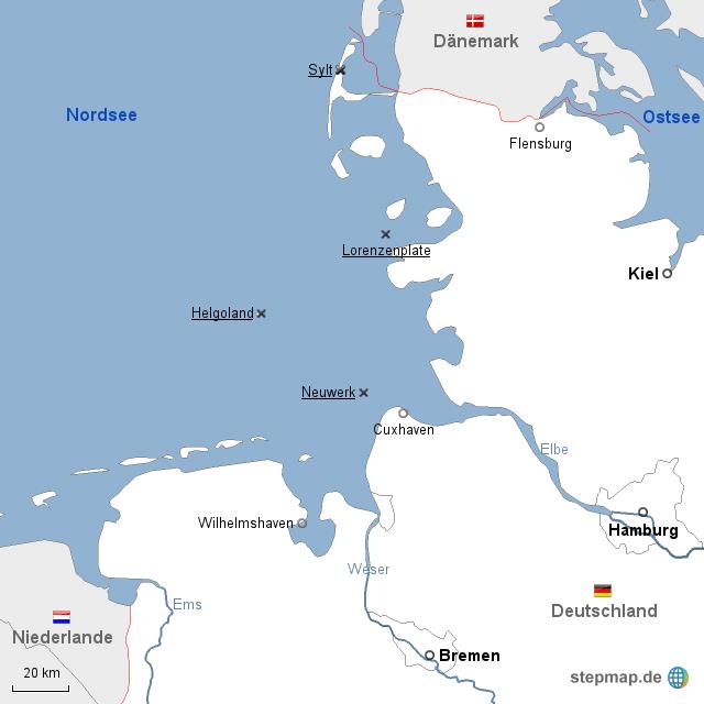 nordsee deutsche bucht 3 von mgrebe landkarte f r deutschland. Black Bedroom Furniture Sets. Home Design Ideas