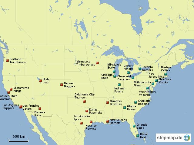 StepMap - Northamerican Basketball Association (NBA ...