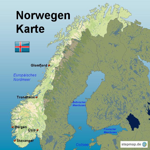Stepmap Norwegen Karte Landkarte Fur Norwegen