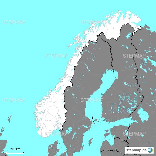 norwegen karte regionen