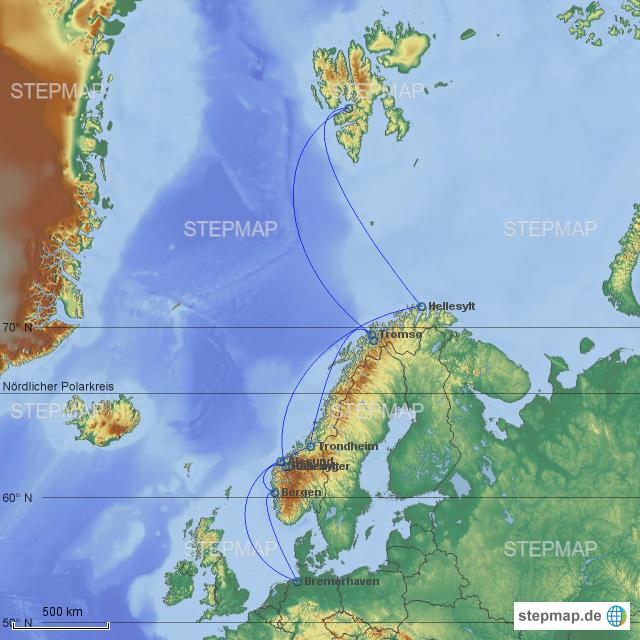 Karte Norwegen Mit Polarkreis.Stepmap Norwegen Spitzbergen Ii 2017 Landkarte Für Europa