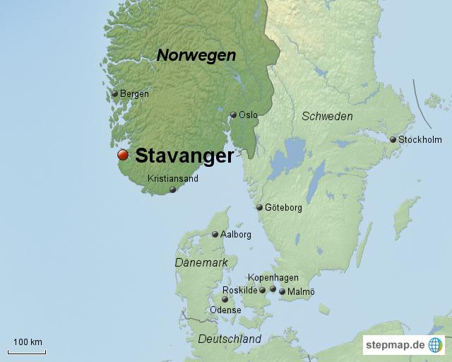 Karte Norwegen Dänemark.Stepmap Norwegen Stavanger Landkarte Für Norwegen