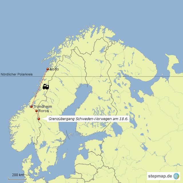 Karte Norwegen Mit Polarkreis.Stepmap Norwegen Gen Norden Landkarte Für Deutschland