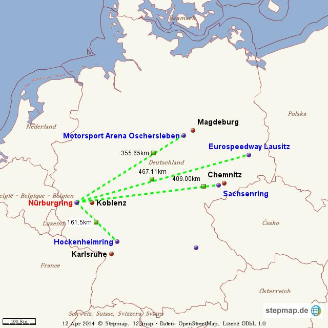 rennstrecken deutschland karte StepMap   Nürburgring   Landkarte für Welt