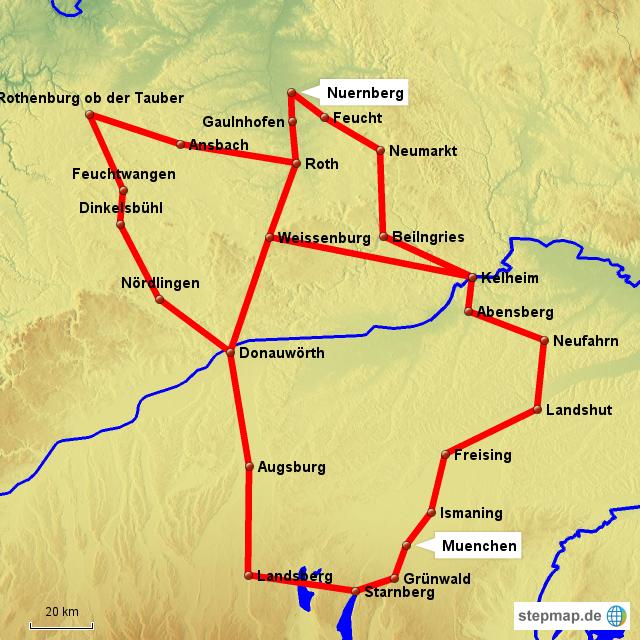 Nürnberg Karte Deutschland.Stepmap Nürnberg München Landkarte Für Deutschland