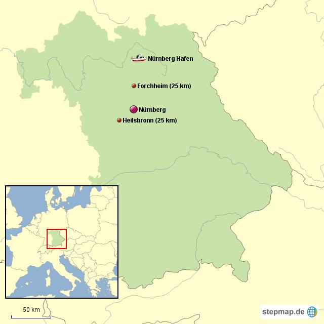 Nürnberg Karte Deutschland.Stepmap Nürnberg U Umkreis Landkarte Für Deutschland