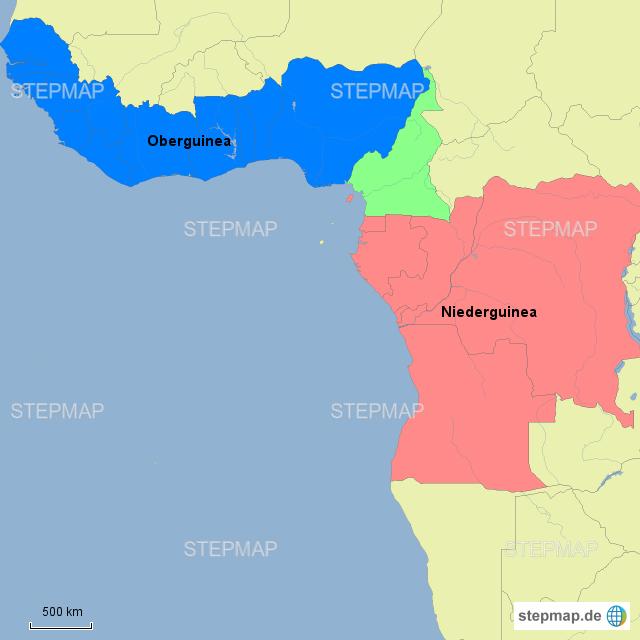 Stepmap ober und niederguinea landkarte f r deutschland for Kuchenhersteller deutschland
