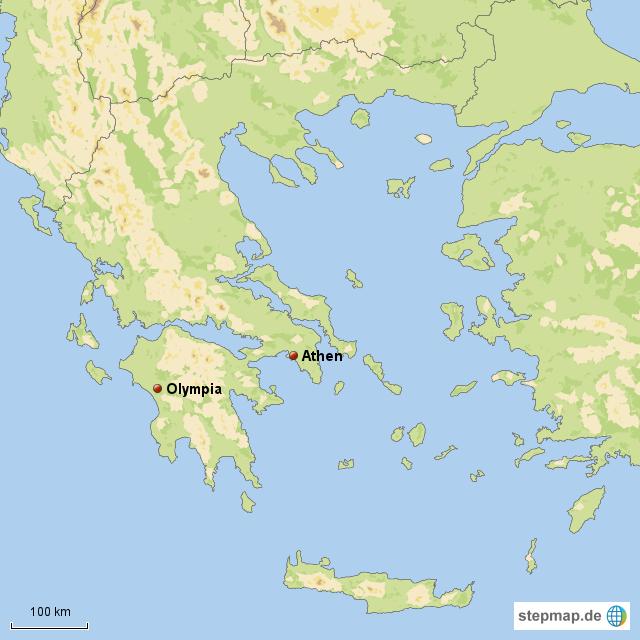 karte olympia griechenland StepMap   Olympia   Landkarte für Griechenland