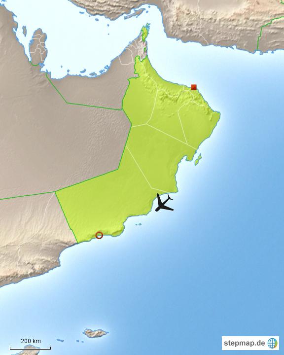 Karte Oman Salalah.Stepmap Oman Salalah Landkarte Fur Oman