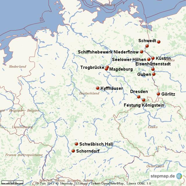 Karte Ostdeutschland.Stepmap Ostdeutschland Landkarte Für Welt