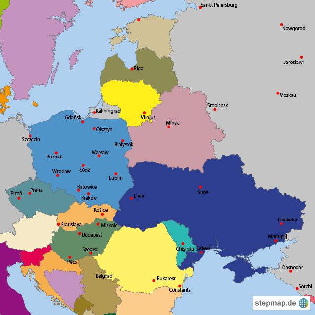 osteuropa karte StepMap   Osteuropa   Landkarte für Europa