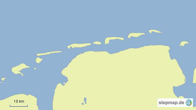 stepmap ostfriesische inseln landkarte f r deutschland. Black Bedroom Furniture Sets. Home Design Ideas