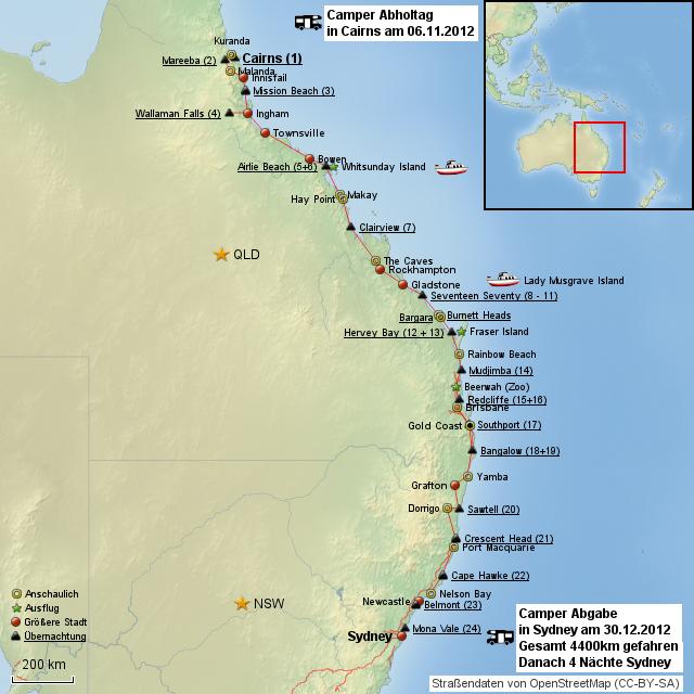 australien karte ostküste StepMap   Ostküste Down under   Landkarte für Australien australien karte ostküste